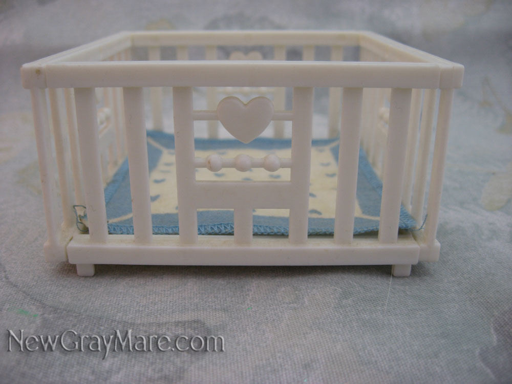 White Crib and Blanket